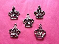 Corona de plata tibetana #1 encantos - 5 por paquete