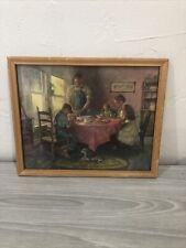 Framed God Bless Our Home Home Kitchen 10x8 Religious Vtg Giesen Art Picture