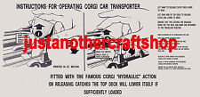 Corgi Toys 1101 Bedford Carrimore Car Transporter Operating Instruction Leaflet