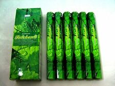 FREE SHIPPING DARSHAN INCENSE 6 HEXAGONALS BOXES 120 STICKS PATCHOULI SCENT