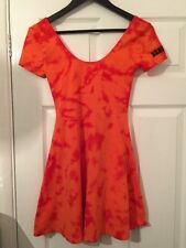 BNWT Women's VICTORIA'S SECRET PINK Orange Collegiate Collection Dress. Size: XS