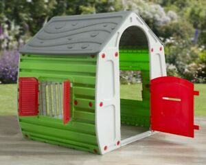 Childrens Playhouse Wendy House Magical Multi-colour Play House Starplast Grey