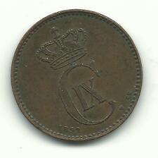 HIGH GRADE BETTER DATE 1892 DENMARK 2 ORE COIN-OCT268