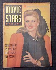 1943 Jan MOVIE STARS PARADE Magazine VG- 3.5 Ginger Rogers Cover