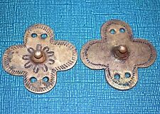Antique Ethiopian Bronze Shield Embellishment Amulet Pendants, Ethiopia Africa