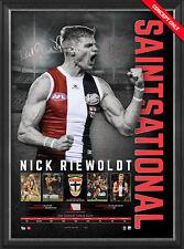 Nick Riewoldt Signed Official AFL St Kilda Retirement Print Framed - AFLPA COA