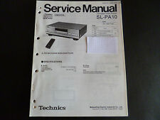 ORIGINALI service manual TECHNICS COMPACT DISC PLAYER sl-pa10