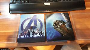 Avengers Endgame  3D/2D  +  Avengers Infinity war 3D/2D  blu-ray steelbook MINT