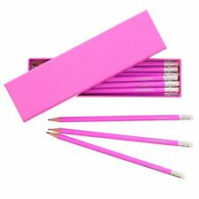 Personalised Pink pencils set with Pink Box- Back to school, Birthdays For Girls