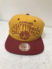 Mitchell & Ness Cleveland Cavaliers Mustard/Red NBA Snapback Cap New