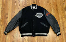 Los Angeles Kings Vintage DeLong NHL Wool Leather Varsity Letterman Jacket 48 XL