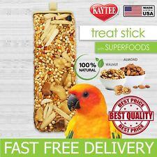 Birds Parakeet Parrot Food Super Treat Stick Almond & Walnut 5.5 oz Kaytee Avian
