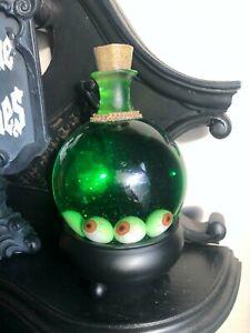 Halloween glass green potion bottle snow globe last one