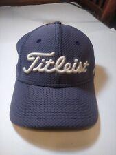 Titleist Fj Pro V1 Black Golf Sports Mesh Fitted Cap Hat Size S/M A-Flex Men's