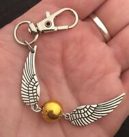 Harry Potter golden Snitch Keyring Key Chain Deathly Hallows Charm Pendant *UK*