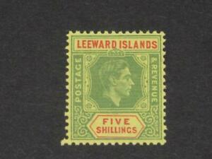 LEEWARD ISLANDS 1943 KG VI 5/ MINT never hinged Sg 112b