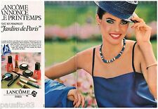 PUBLICITE ADVERTISING 095  1982 LANCOME maquillage rouge lèvres vernis ongles 2P