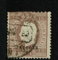 Azores SC# 33b, Used, Hinge Remnant, some minor toning (perf 12.5) - S6154