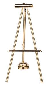 Dollhouse Miniature Gold LED Easel