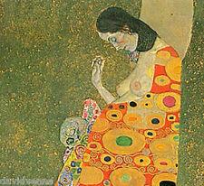 Gustav Klimt 12 x 12 inch Abandoned Hope on Zweigart Needlepoint Canvas