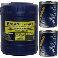 10w-60 Motoröl 2x10 Liter Mannol Racing Ester Vollsynthetisch Auslaufschlauch