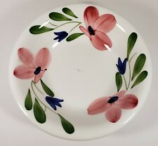 """La Primula Maxam  8 1/4"""" Soup Bowl Pink and Blue Floral Hand Painted In Italy"""