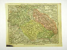 Silesia Bohemia Lausitz Saxony altkol Copperplate Map Moores 1762 #d916s