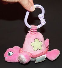 Garanimals Pink Turtle Plush Jittery Vibrating Baby Toddler Toy With Clip