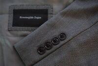 Ermenegildo Zegna Milano Current Wool Gray Nailhead Sport Coat Jacket Sz 40R
