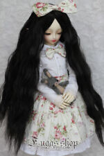 1/3 1/4 1/6 BJD Doll Wig Wire Black Color High Temperature Wavy BJD Dollfile Art