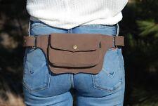 Belt Bag Suede Hip Bag Brown Waist Pack Festival Fanny Pack for Women Bum Bag