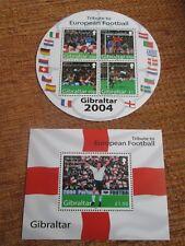 GIBRALTAR 2004 European Football Championships mini sheets SG 1087 mnh