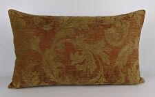 "John Lewis Romance Fabric Handmade Cushion Cover 12""x20"" Red Gold"