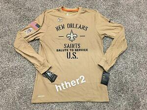 2019 New Orleans Saints Nike Salute to Service Long Sleeve Shirt M XL 2XL Brees