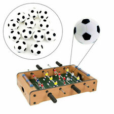 6Pcs Mini Footballs Plastic Ball Table Top Soccer Game Black And White 32mm