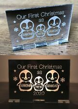 Personalised 1st First Christmas as Grandparents Candle Holder Decoration Gifts