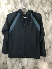 Ted Baker London Men's Sz M-3 Full Zip Hoodie Sweatshirt Gray/ Blue Polyester