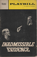 1966 Playbill INADMISSIBLE EVIDENCE Nicol Williamson Madeleine Sherwood
