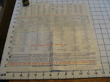 Vintage paper: Early incomplete STEAMER SHIP SAILING CHART. Jan & Feb. from RR