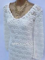 New Monsoon IVORY Crochet Dress sz 12 14 16 18 20 Wedding/Party/Vintage