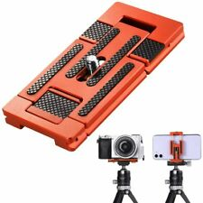 "K&F Concept Orange Tripod Mount Quick Release Plate w/ 1/4"" Screw f Camera Phone"