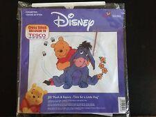 Disney Winnie The Pooh Cross Stitch J50 Pooh & Eeyore Time For A Little Hug