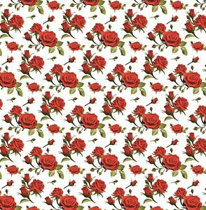 Mothers Day Wrapping Paper,Red Roses,Floral Beautiful Gift Wrap.