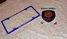 ORLANDO LIONS SC PLASTIC AUTO LICENSE PLATE FRAME AND SHIMMER DECAL DEAL NEW