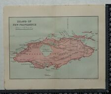 1914 Vintage Stanford Map - Island of New Providence