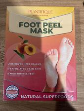 Plantifique Foot Peel Mask -Peach Feet Peeling Mask 2 Pack NEW