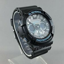 New Casio G-Shock GA-201BA-1A Black / Blue XL Shock & 200M Water Resistant Watch