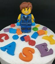 Rex LEGO Movie Edible Handmade Personalised Birthday Cake Topper Decoration