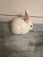 Vintage Ceramic White Easter Bunny - Rabbit - 4 Inches