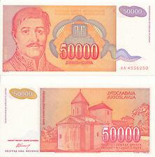 Jugoslawien / Yugoslavia - 50000 Dinara 1994 UNC - Pick 142